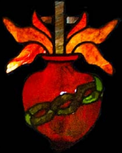 Sacred Heart stained-glass logo