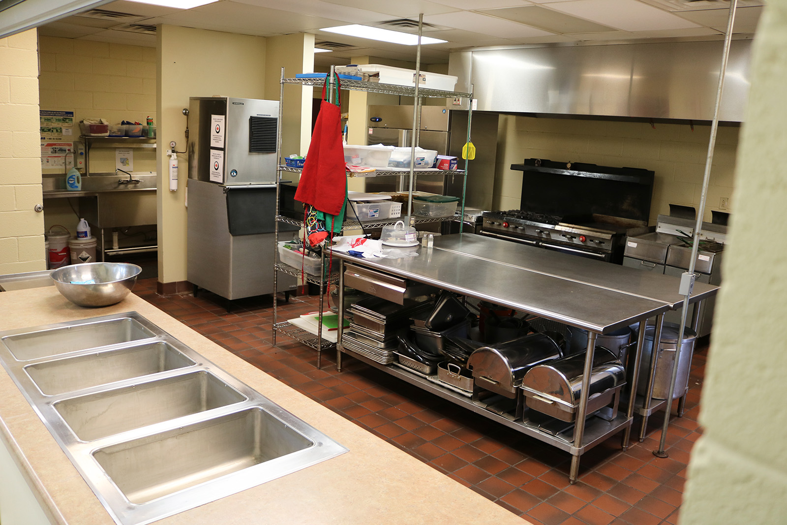 Kitchen in the parish hall at Sacred Heart Catholic Church in Springfield MO
