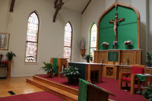The Altar area of Sacred Heart Catholic Church in Springfield MO